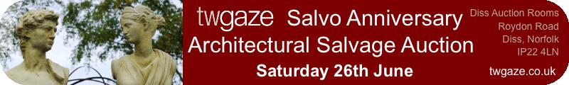 TW Gaze Salvo Anniversary Architectural Auction. Saturday 26th June